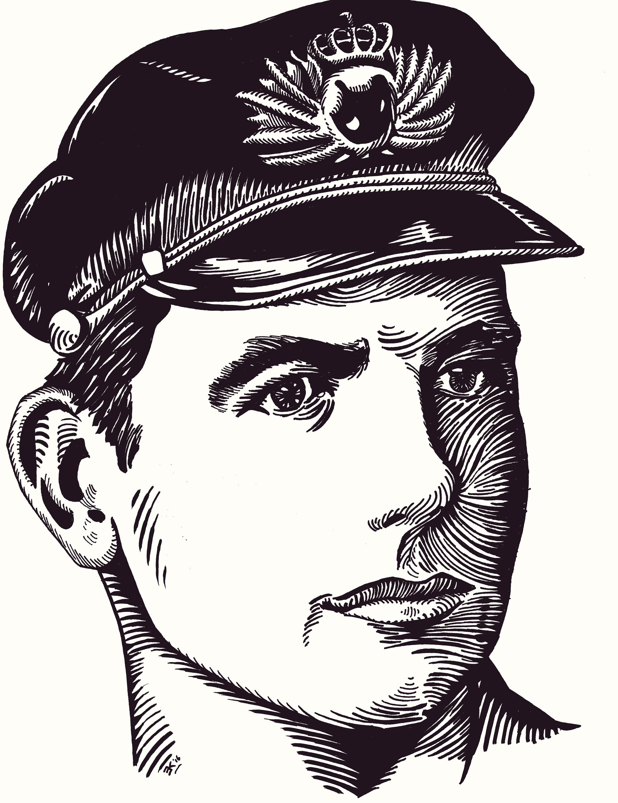 Portret door Edward Kobus van de dichter Jan Jacob Slauerhoff