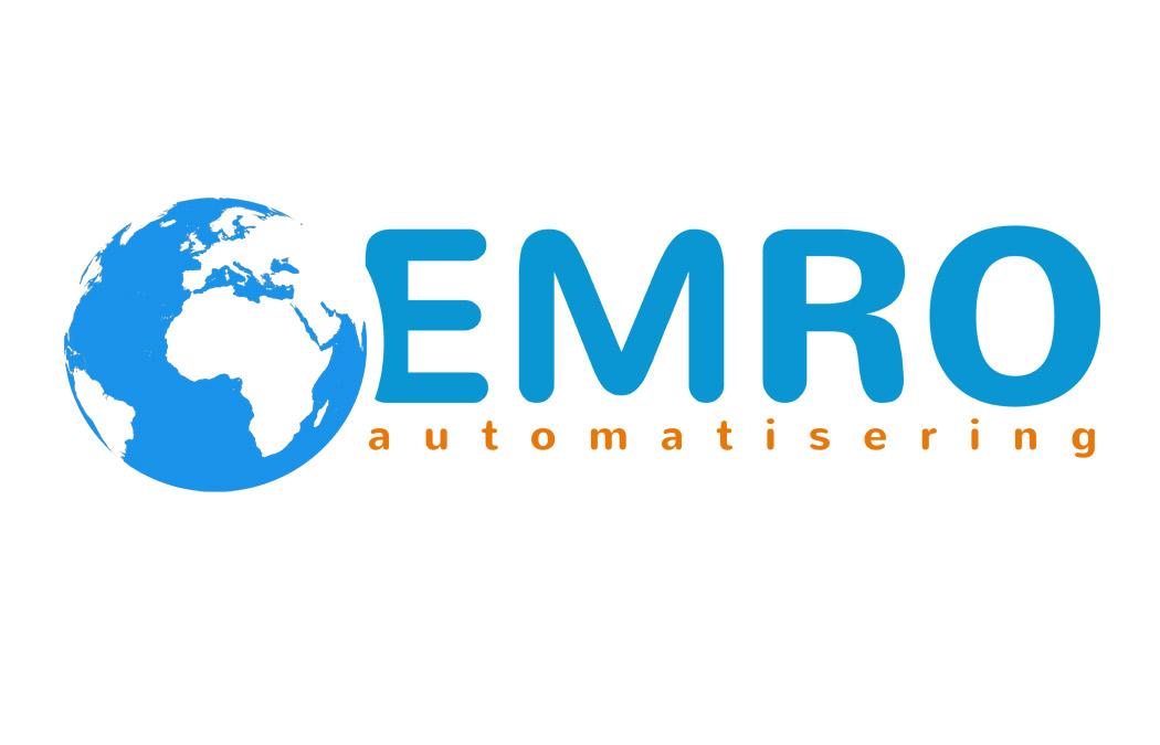 Het nieuwe logo van Emro, ontworpen door Edward Kobus Design